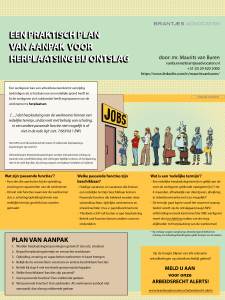 Infographic Een praktisch plan van aanpak voor herplaatsing bij ontslag